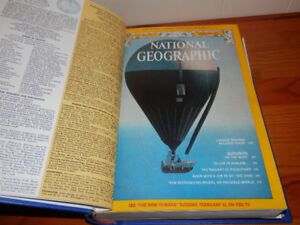 National Geographic Magazine collection 1970-2000