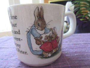 Vintage Wedgwood China Beatrix Potter Peter Rabbit Child's Mug