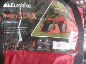 Eurohike Tent 3 man, waterproof