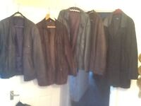 Lots of male leather jackets