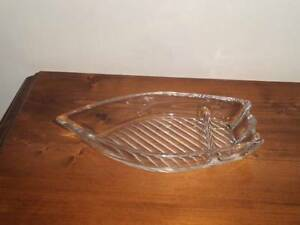 UNUSUAL CRYSTAL ROW BOAT DISH---BRAND NEW---IDEAL GIFT Wynn Vale Tea Tree Gully Area Preview