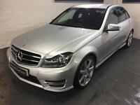 Mercedes-Benz C220 AMG premium sport,LOW MILEAGE media sat nav