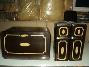 Bread Box and Canister Set