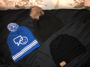 Winter beanies for sale $15 each. $30 for all three