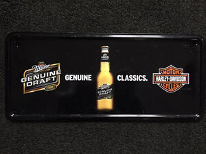 Harley Davidson beer sign metal