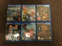 6x PS Vita Game bundle, most unused!!