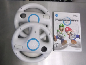 Mario Kart Wii with 2 steering wheels.