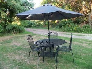 Vintage Sunbeam Wrought Iron Dining Patio