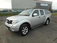 NISSAN NAVARA TEKNA 4X4 DOUBLE CAB DIESEL MANUAL 4 DOOR SILVER NO VAT.........