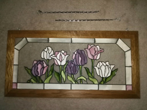 PAINTED GLASS - TULIPS!!