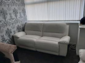Cream recliner sofas