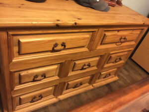 Solid Wood Dresser and 2 Night Tables