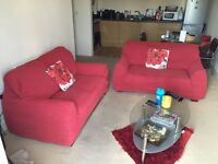 Two leather couch for living room