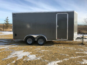 New Wells Cargo 7 X 16  V-Nose, 6in Extra height