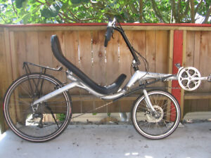 quick ActionBent mid-racer recumbent bike