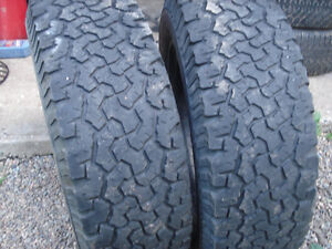 2 Tires BF Goodrich All Terrain LT 235/70R16