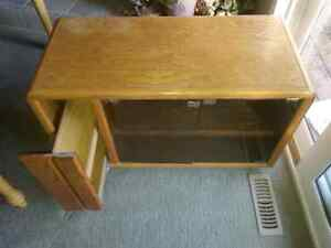 Oak television stand