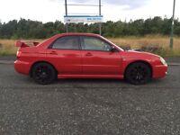 2003 SUBARU IMPREZA WRX 2.0 TURBO AWD, IN RARE BRIGHT CHERRY RED, ONLY 75.000 MILES LONG MOT