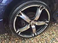 18 in wheels fit Vauxhall Renault honda