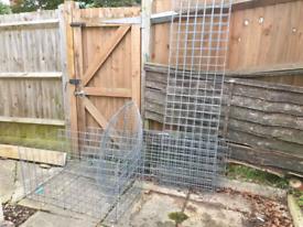 Unused Wire Cage Gabion Stone Baskets