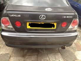 Lexus is200 grey 1c6 boot + spoiler bootlid complete 98-05 breaking spares is 200 is300