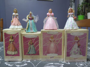 4 Barbie Hallmark Easter / Spring Collection Ornaments