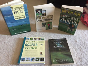 GOLF BOOKS - ALL ARE IN BNC TO EUC