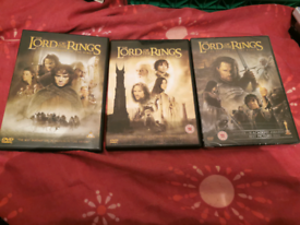 Lord Of The Rings Trilogy DVD Films Very good/Brand New Condition