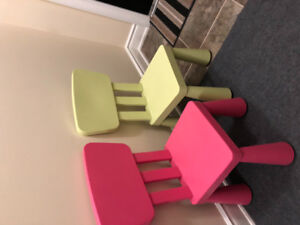 IKEA plastic chairs for kids x2