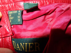 Red Leather ladies pants size 4-   recycledgear.ca Kawartha Lakes Peterborough Area image 1