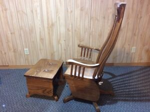 Solid Oak Glider Chair London Ontario image 1
