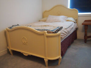 Vintage French Bed Frame and Matching Dresser