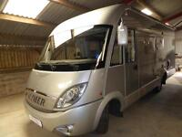 Hymer B655SL A class 4 berth rear fixed bed motorhome for sale