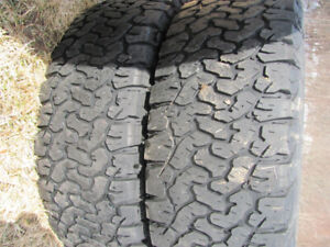 2 LT275/65R18 10 PLY TIRES WITH DEEP TREAD BOTH FOR $120.00