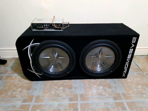 Clarion Subs and Amp in Box