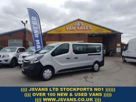 2015 65 VAUXHALL VIVARO L.W.B MINIBUS 120 BHP BITURBO 9 SEATER BUS NEW MODEL DI