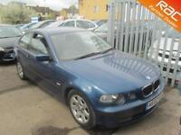 2002 BMW 3 Series 316 hatchback 1.8i 116 SE Petrol blue Manual