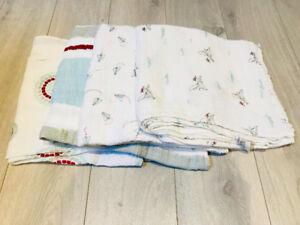 Set of 4 Aden   Anais Muslin Swaddling Blankets