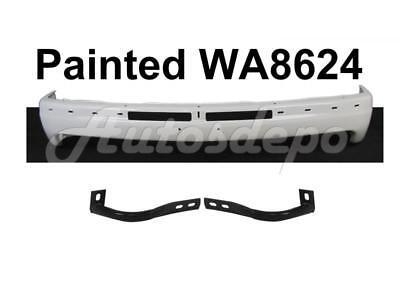 Front Bumper White Face Bar Outer Brace For Silverado 1500 Std Cab 1999-2002