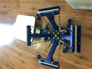 4 Color- 1 Station  Screen printing machine