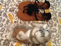 2 brand new American eagle sandals size 10