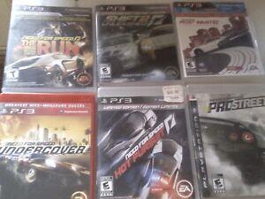 Lot de 6 jeux Playstation 3 Need For Speed  45$ pour les 6