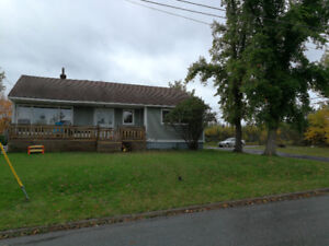 Three bedroom house with full basement for rent.