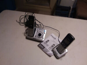 2 Cordless Phones w. Answering Machine  and One Corded