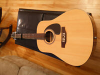 12 string seagull guitar / with pick up and HSC