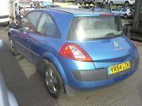 renault megane 1390cc matalic blue 54 plate newshape 295 no offers no swaps