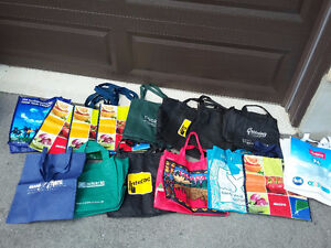 Lot of 20 assorted reusable tote bags London Ontario image 3