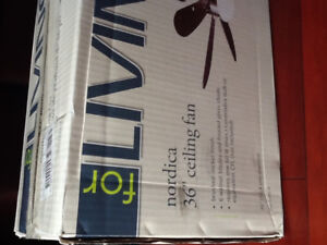 Brand new still in the box ceiling fan with light $25.00