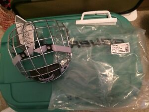 BAUER 4500 FACEMASK SILVER LARGE NEW WITH TAGS