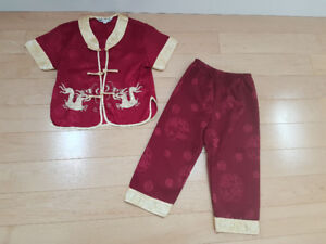 EUC Traditional Chinese Outfit - Size 3T